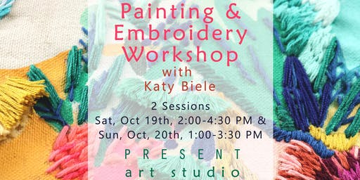 Paint and Embroidery Workshop with Katy Biele in Vancouver