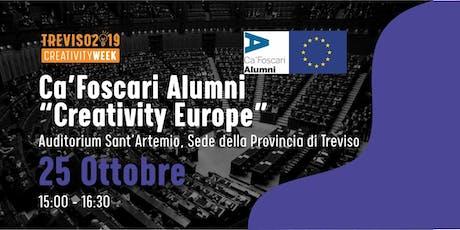 Creativity Europa con gli Alumni di Ca' Foscari biglietti
