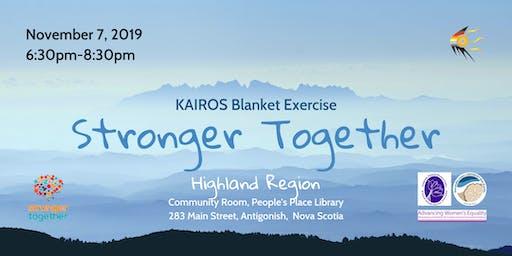 Kairos Blanket Exercise-Stronger Together-Highland Region