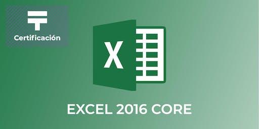 Certificación de Excel 2016 Core (Grupo 3) | Talentia Summit '19