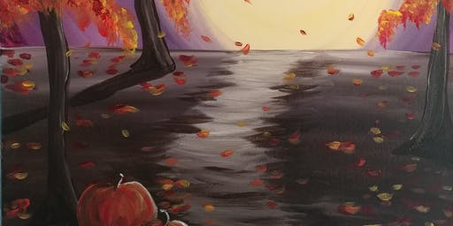 "Paint Party at the Hide-A-Way ""Path in the Fall"" with Creatively Carrie"