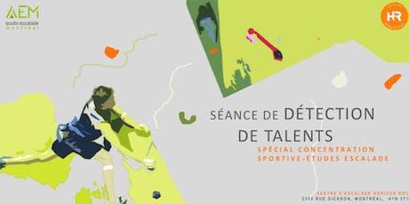 Séance gratuite de détection de talents | Spécial Concentration Sportives-Études escalade tickets