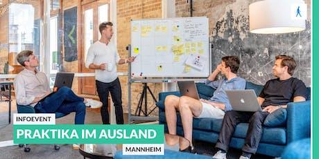 Ab ins Ausland: Infoevent zu Start-Up Praktika im Ausland | Mannheim Tickets
