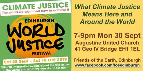 What Climate Justice Means Here & Globally, 7-9pm, Mon 30 Sept, AUC [EWJF] tickets