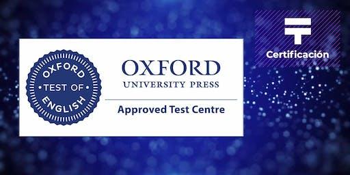 Certificación Oxford de Inglés: A1, B1 y B2 (Grupo 2)