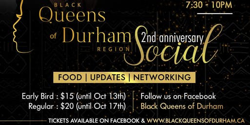 Black Queens of Durham 2nd anniversary social