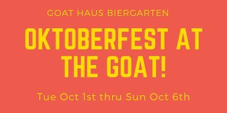 Oktoberfest Week at The Goat Haus tickets