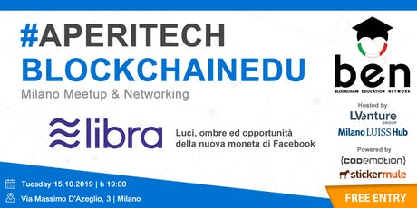 MILANO - Meetup #AperiTech di Blockchain Education Network Italia biglietti