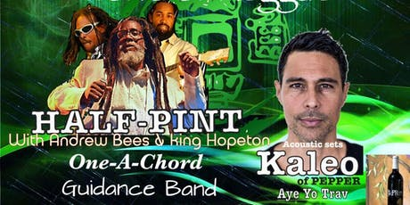 An evening of Reggae with Half-Pint, Andrew Bees, King Hopeton, Kaleo... tickets