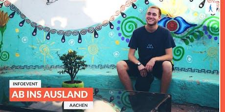 Ab ins Ausland: Infoevent zu sozialen Projekten im Ausland | Aachen tickets