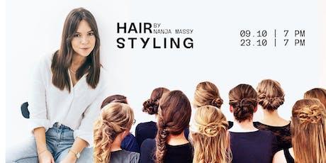 Workshop hairstyling by Nanja Massy billets