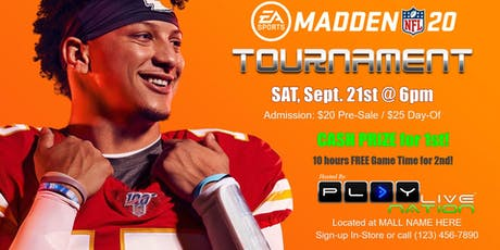 Madden 20 Double Elimination: $20 tickets
