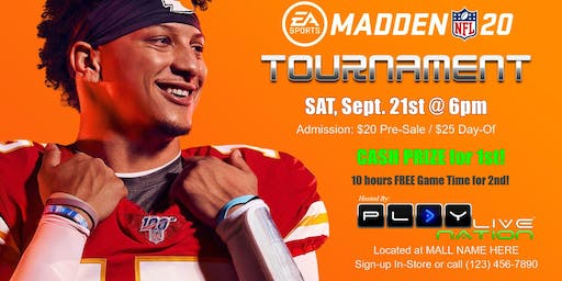 Madden 20 Double Elimination: $20