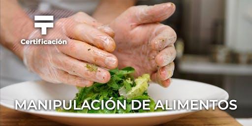 Certificación Manipulación de alimentos y alérgenos | Talentia