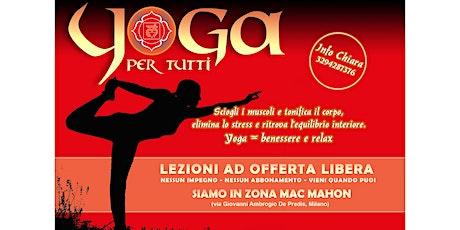 Yoga per tutti al mattino offerta libera  biglietti