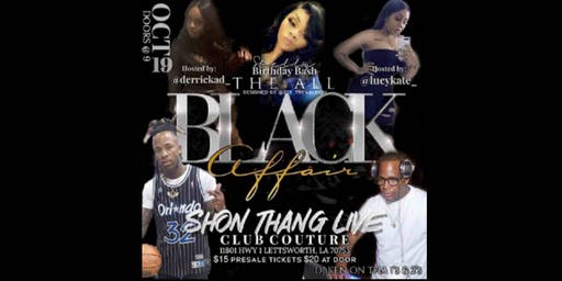 All Black Affair- Shon Thang Live