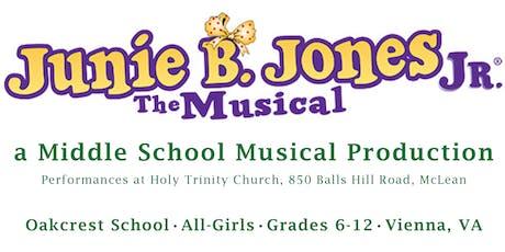Oakcrest School's Patron of the Arts Reception - Junie B. Jones, Jr.  tickets
