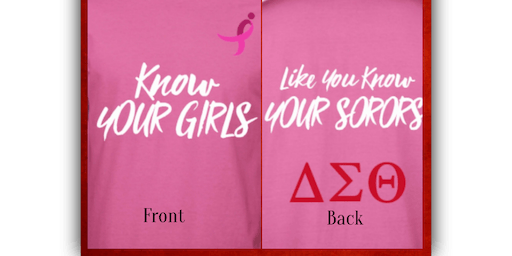 Know Your Girls Breast Cancer Awareness T-Shirt Sale
