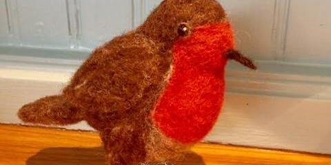 Beginner's Needle Felting - Christmas Robin