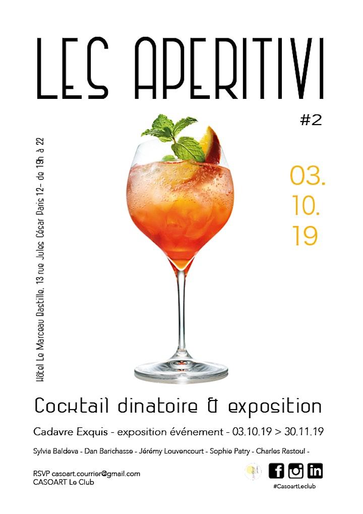Image pour LES APERITIVI #2 -  Cocktail dinatoire & exposition - JEUDI 3 OCTOBRE
