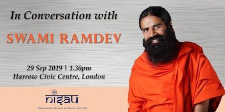 In Conversation with Swami Ramdev tickets