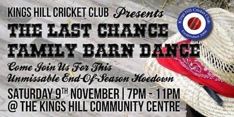 KHCC - The Last Chance Barn Dance! tickets
