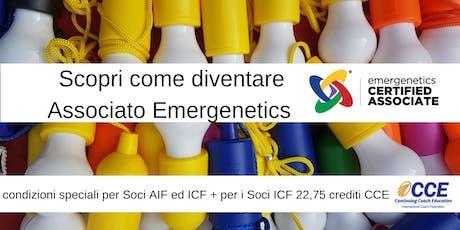 Corso di Certificazione Emergenetics - Novembre 2019 biglietti