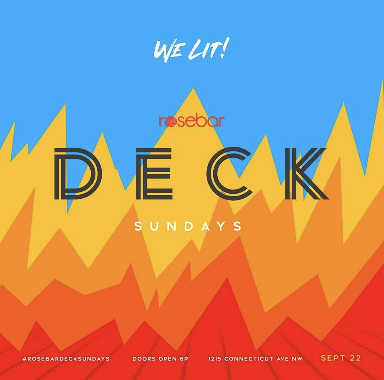 The Deck Sundays at Rosebar