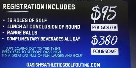 Oasis HS ⛳️ Golf Outing  supporting student athletes open to the public! tickets
