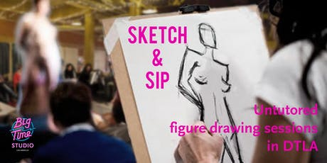 Sketch & Sip: untutored life drawing sessions in DTLA tickets