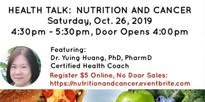 Nutrition and Cancer with Dr. Yuing Huang, PharmD, PhD, CHC