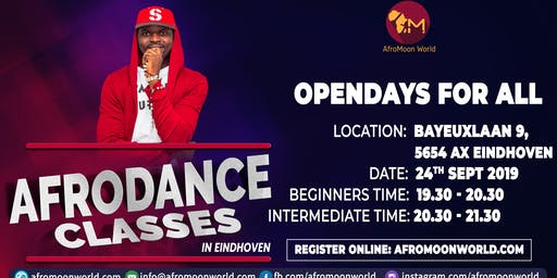 Opendays Afrodance class in Eindhoven September