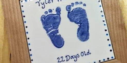 Baby Prints - FRAMED TILE