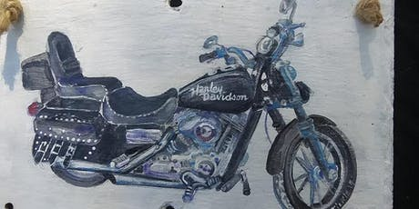 Motorcycle or Logo Slate Paint Class Bring Your Motorcycle Picture or Logo tickets