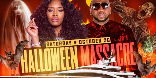 HALLOWEEN MASSACRE LOVE & HIPHOP YANDY SMITH YACHT PARTY