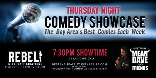 Thursday Night Comedy At Rebel Kitchen