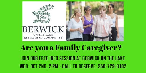 Free Info Session for Family Caregivers in Nanaimo/area