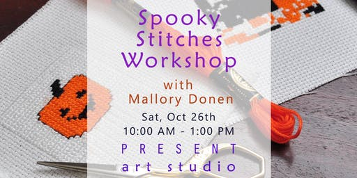 Spooky Cross-stitching Workshop with Mallory Donen in Vancouver