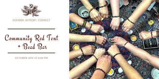 Community Red Tent + Bead Bar
