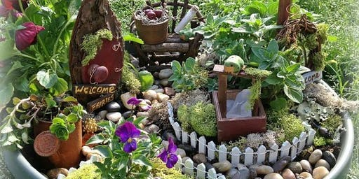 Fairy Garden Party Create a Mini Landscape with plants, fairy miniatures