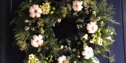 Christmas Door Wreath Workshop with bubbly & nibbles, festive creative fun