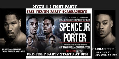 Nyc's #1 Fight Party ..SPENCER vsPORTER tickets