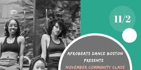 November Community Class 11/2/19 tickets