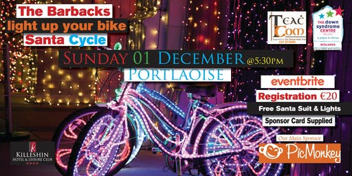 Light up your bike santa cycle