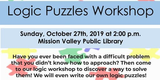 [All Girls STEM Society] Logic Puzzles Workshop - October 27, 2019