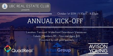 UBC Real Estate Club Annual Kick-Off 2019 tickets