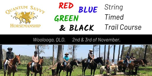 Timed Trail Course for Red, Blue, Green and Black Strings.
