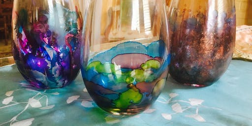 Wine & Art Wednesday: Alcohol Ink Wineglasses