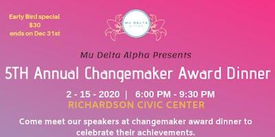 5th Annual Changemaker Award Dinner