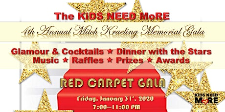 The RED CARPET Gala in Memory of Mitch Kraeling tickets